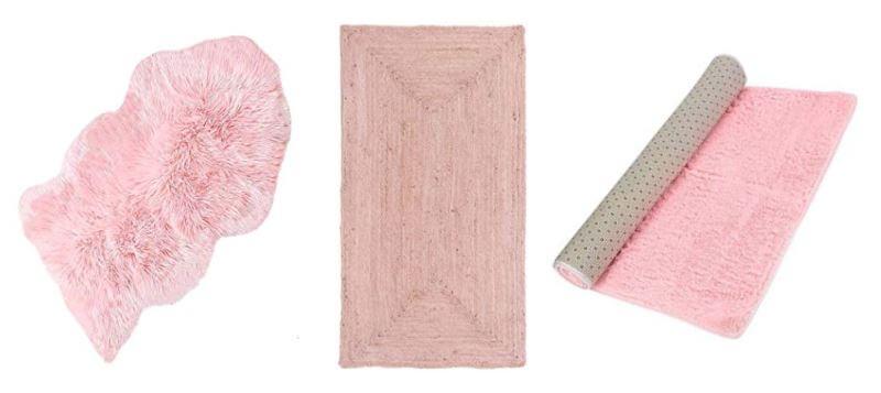 Alfombras rosas de salón y dormitorio de distintos materiales