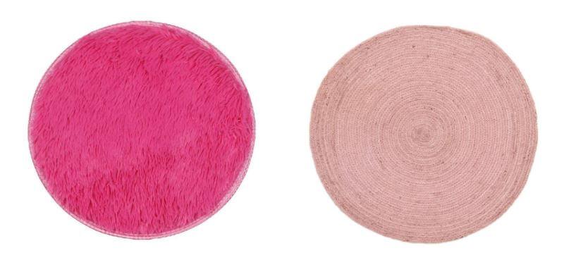 Alfombras redondas rosas para salas de estar, salones y habitaciones