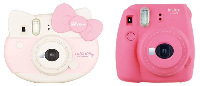 Cámara de fotos rosa instantánea Fujifilm Instax Mini 9 y Fujifilm Instax Mini Hello Kitty infantil