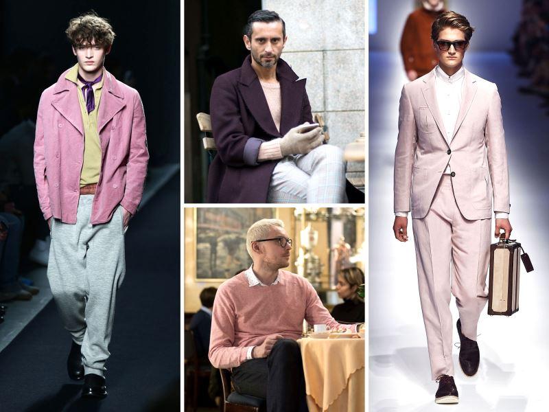Combinaciones de ropa rosa para hombres
