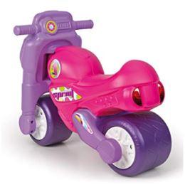 Moto correpasillos rosa y morado