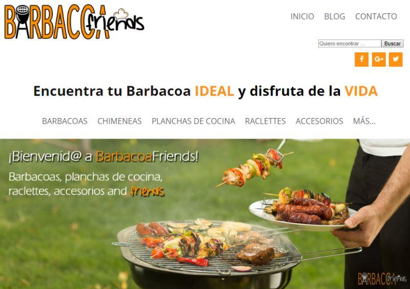 Ejemplo de web que se puede crear con el curso monetiza tu pasión: barbacoafriends.com