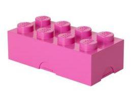 LEGO caja rosa de almacenamiento para bloques y ladrillos de construcciones