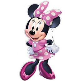 Minnie Mouse vestida de color rosa