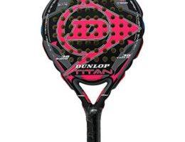 Pala de pádel rosa y negro de la marca Dunlop