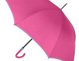 Paraguas rosas para mujer