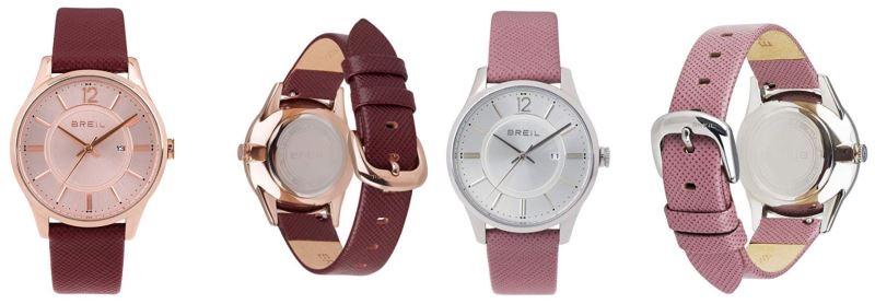 Relojes rosas para mujer analógicos de piel