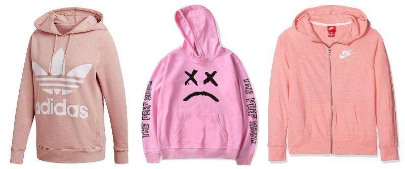 Sudaderas rosas para hombre Nike y Adidas con y sin capucha